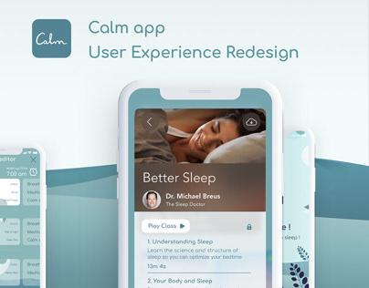 Calm App: User Experience Redesign