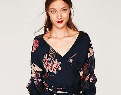 ZARA Woman - co-ord set print