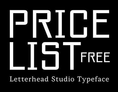 Pricelist Typeface