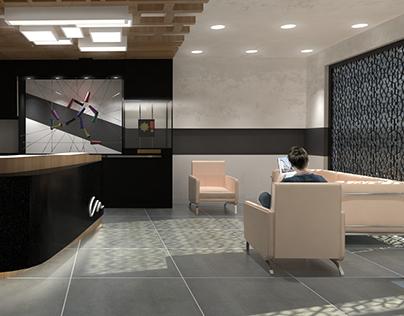 Render interior reception