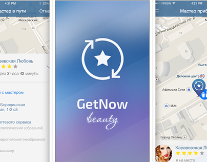 Prototypes & app for Beauty masters and clients