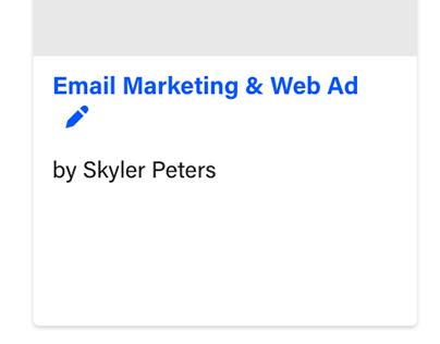Email Marketing & Web Ad