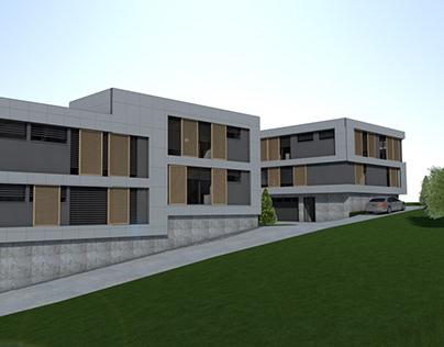 Modern flat house project
