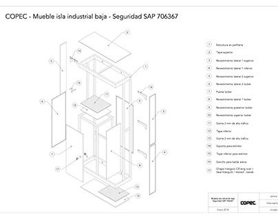 Planos de mueble 01 para Compomet Industrial