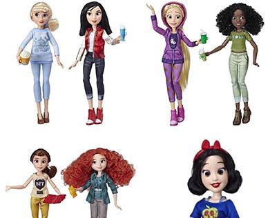 Hasbro /Disney Cozy Princesses Prototype Fabric Art