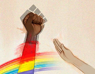 Against fascism, fists up !