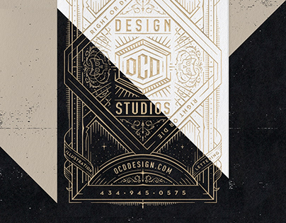 OCD Design Studios Business Cards // Personal Branding