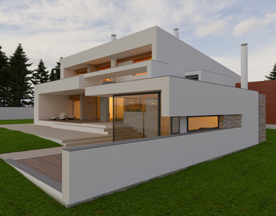 Modern House Architectural Rendering