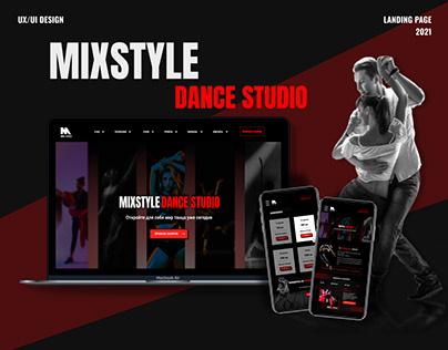 Landing page for dance studio