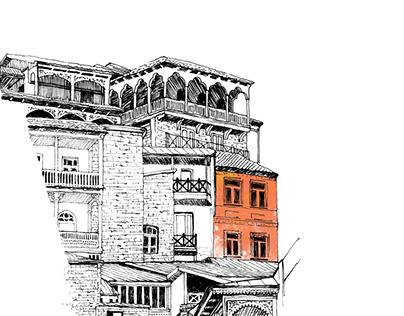 Illustrations for Sayat Nova poems book
