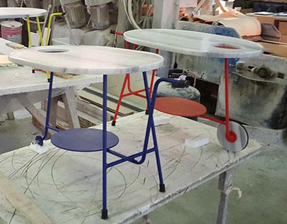 Galeotto, coffee table - B side - Persiceto Marmi