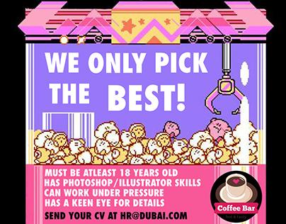 Coffee Bar hiring Poster