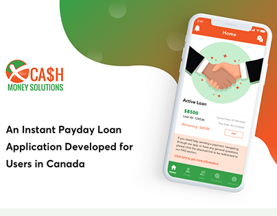 An instant payday loan application