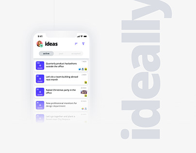 ideally - idea sharing and voting app