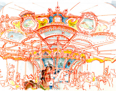 Carousels of NYC (sketchbook)