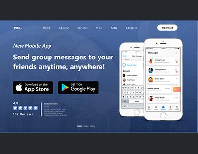 Social Media Chatting App Website UI Design