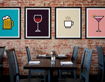 Icon Prints: Drinks Serie