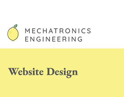 Mechatronics Engineering Webdesign