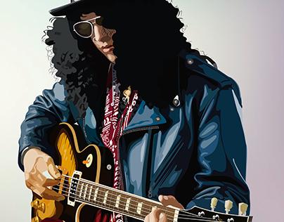 Ilustración Vectorial │ SLASH Guns N' Roses