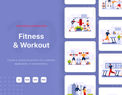 Fitness & Workout Illustrations