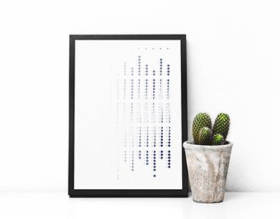 Calendrier MOON - Design graphique