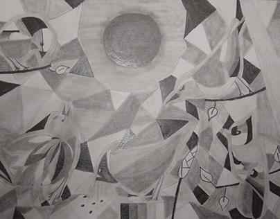 Estudos em preto, cinzas e branco