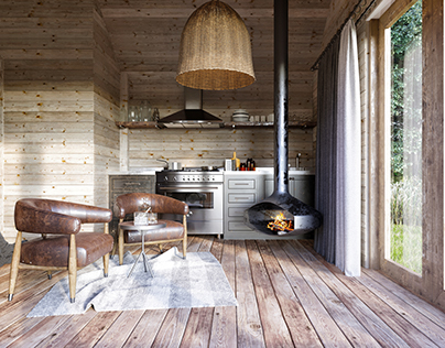 Rustic space wood house ...