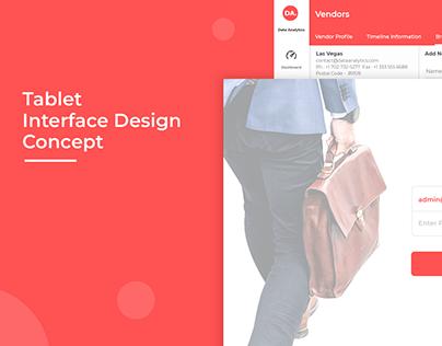 Tablet Interface Design Concept