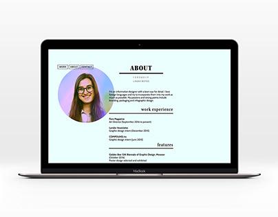 2016 University Portfolio Website