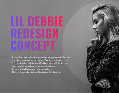 Redesign concept of Lil Debbie's website