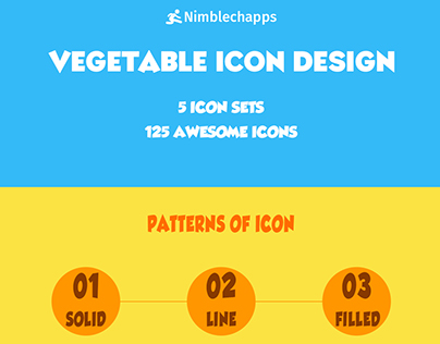 Vegetable Colored Icons | Icons Design | Solid Icons