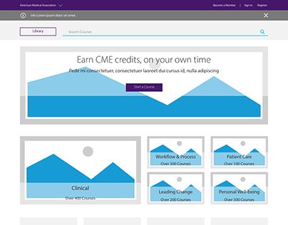 Education Hub (LMS) Landing Page