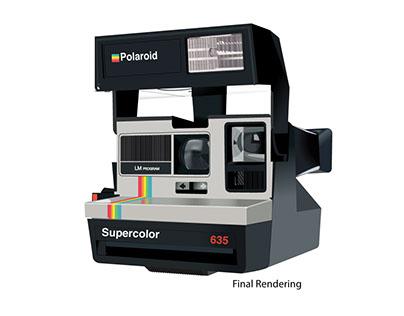 Polaroid Camera Drawn In Vectors