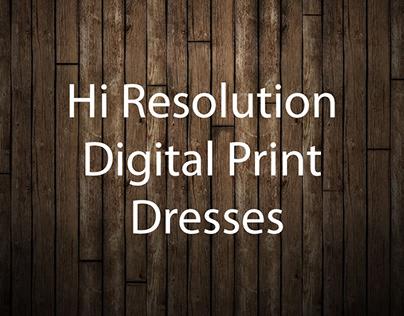 Hi Resolution Digital Print Dresses
