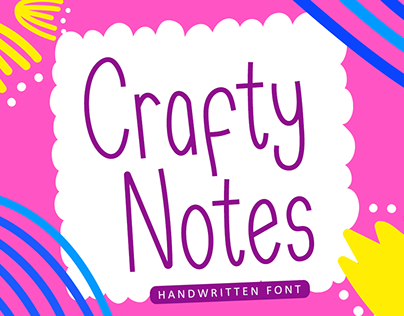 Crafty Notes - Handwritten Font