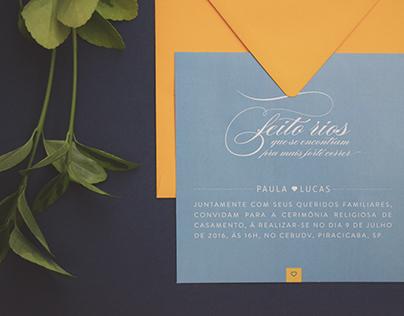 Wedding Invitation | Paula and Lucas