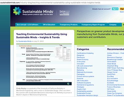 Teaching Sustainability Using Sustainable Minds