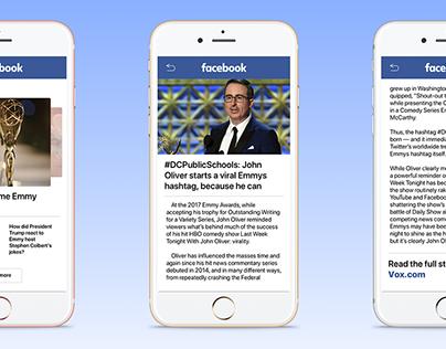 CS 160 - Facebook News Feed Redesign