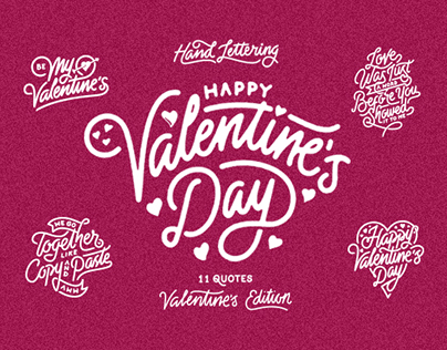 Hand Lettering - Valentine's Day Edition