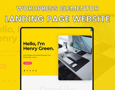 Landing Page Portfolio Website - WordPress Elementor
