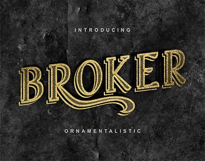 Broker - Vintage Ornamentation Font