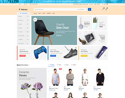 Pinkmart WooCommerce WordPress theme - Sunshine Market