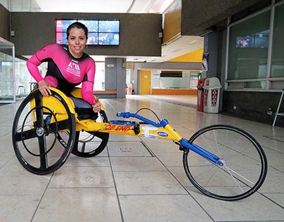 proyecto PLUS, Para el atletismo sobre silla de ruedas.