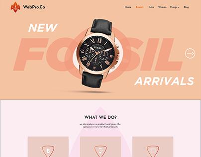 WebPro landing page design