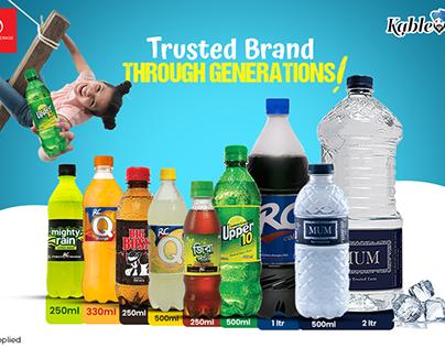 Cold drinks facebook ad banner