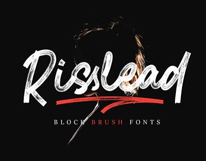 Risslead Block Brush Fonts