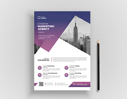 Creative Corporate business agency flyer template