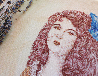 Portrait of Mary Philbin / Embroidery