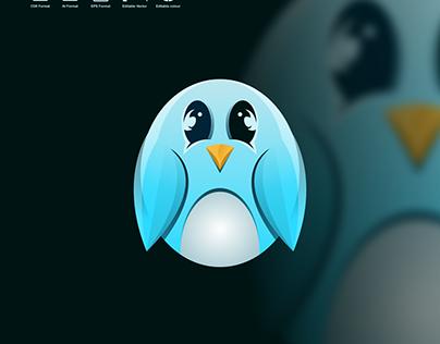 cute pinguin logo