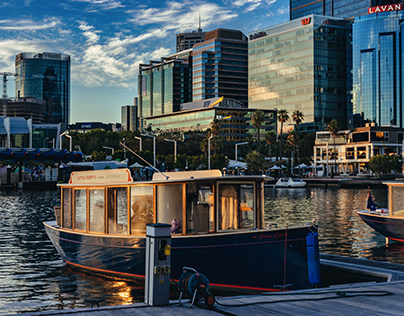 Summer Sunset at Elizabeth Quay, Perth